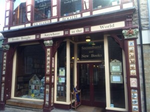The world famous Booths bookshop in Hay-on-Wye.